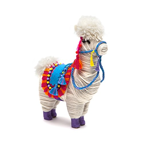 41dXTtUixML - Craft-tastic – Yarn Llama Kit – Craft Kit Makes 1 Yarn-Wrapped Llama
