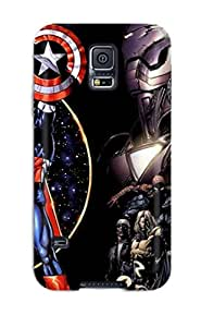 Awesome Case Cover/galaxy S5 Defender Case Cover(the Avengers 107)