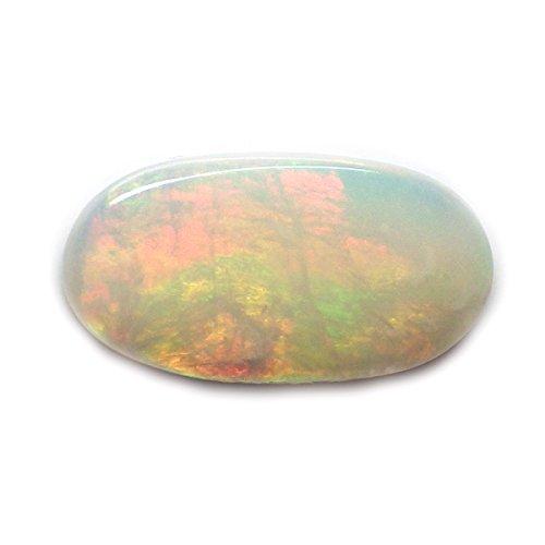 1.64 Ct. Natural Oval Cabochon Multi-color Opal Australian Loose Gemstone