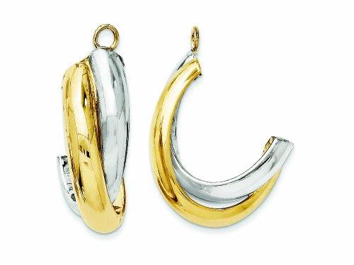 Finejewelers 14k Two-tone Polished Double J-hoop Earring Jackets