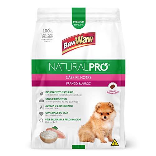 Baw Waw Natural Pró Alimento Para Cães Filhotes Frango  E Arroz - 6x2,5kg - Com Válvula Segurança