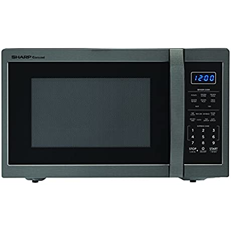 Sharp Microwaves ZSMC1452CH Sharp 1 100W Countertop Microwave Oven 1 4 Cubic Foot Black Stainless Steel