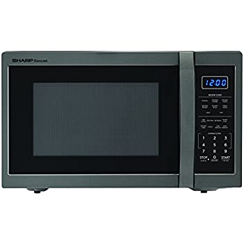 SHARP ZSMC1452CH 1,100 Watt Countertop Microwave Oven, 1.4 Cubic Foot, Black Stainless Steel