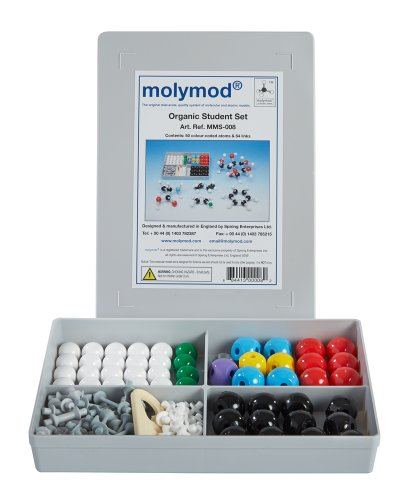 Basic Model Atom - Molymod MMS-008 Organic Chemistry Molecular Model, Student Set (50 atom parts)