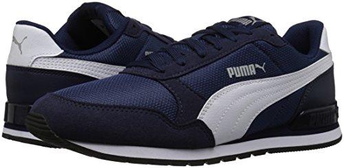 PUMA Unisex-Kids ST Runner V2 Mesh Sneaker, Peacoat White, 2 M US Little Kid by PUMA (Image #6)