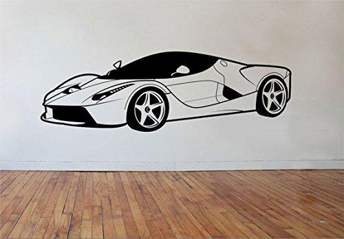Super Nanny Costume (ik963 Wall Decal Sticker Italian car super car powerful living bedroom)