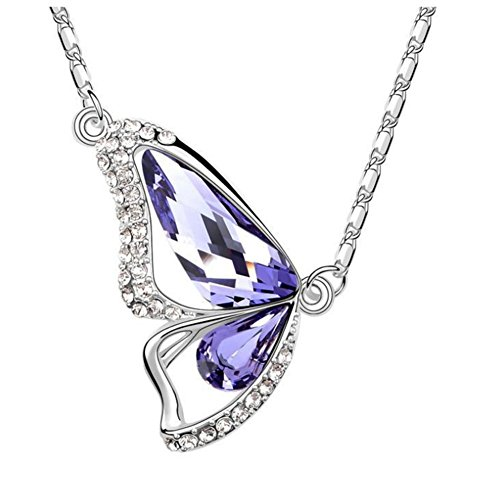 LuxuryLady The New Sexy Butter fly Pendant Simple Fashion Austrial Crystal Women Female Necklace(C2)