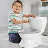 Summer My Size Potty Train and Transition, White   - Realistic Potty Training Toilet Looks and Feels Like an Adult Toilet - Includes Removable Potty Topper and Storage Hook, Easy to Empty and Clean