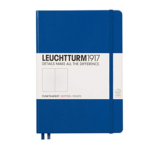 Leuchtturm1917 Medium A5 Dotted Hardcover Notebook [Royal Blue] - 249 Numbered Pages