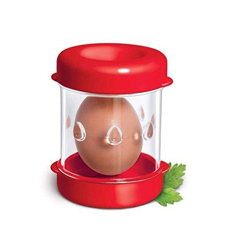 Hard Boiled Eggs Peeler and Cracker Boiled Egg Shell Peeler Stripper,Shake and Peel Peeling Kitchen Tool, egg opener tool (red) by TF-HE
