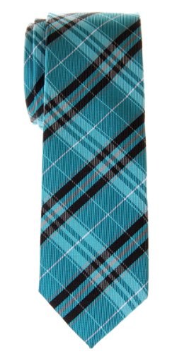 Retreez Stylish Plaid Checkered Woven Microfiber Skinny Tie - Various Colors - http://coolthings.us