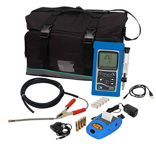 Ansed Professional Portable Handheld Exhaust Gas HC, O2, CO, CO2, NOX, Lambda, Diagnostic Emissions Analyzer Sniffer Tester Tool Kit with Printer