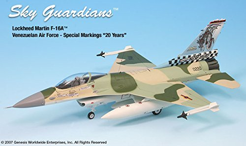 F-16A Fighting Falcon Venezuelan AF 1:72 Scale Die-cast Metal Model by Witty Wings - F-16a Fighting Falcon