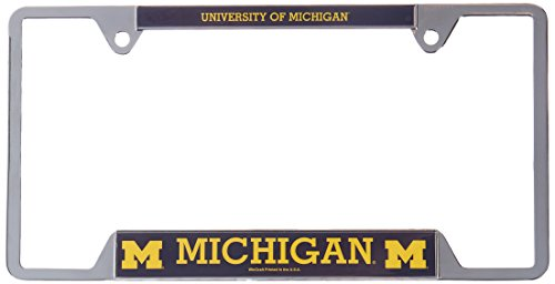 University Metal (NCAA University of Michigan Metal License Plate Frame)