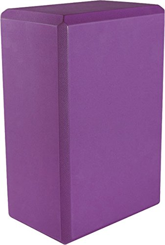 Yoga 4'' Foam Block (20-Pack), 4'' x 6'' x 9'', Purple by MatsMatsMats.com