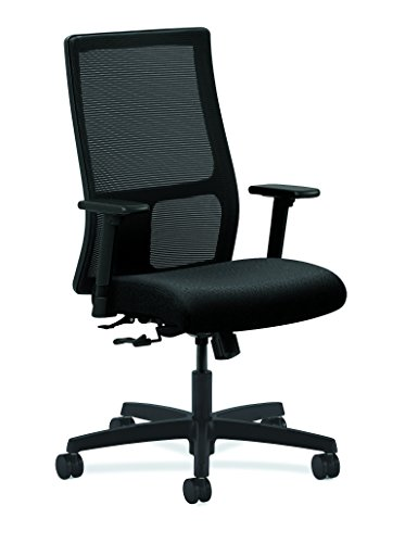 Series Mid Back Fabric Chair (HON Ignition Series Mid-Back Work Chair - Mesh Computer Chair for Office Desk, Black (HIWM1))