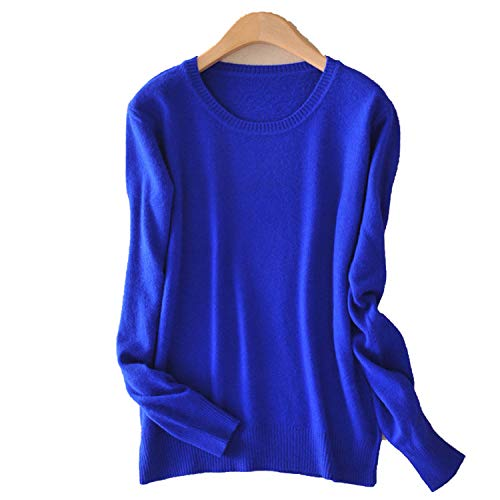 2018 Autumn Women Sweaters Casual Solid Colors Long Sleeve O-Neck Wool Cashmere Blend Pullovers,005,XXL -