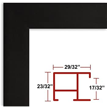 Amazoncom 24 X 48 Poster Frame Profile 97 Satin Black Custom