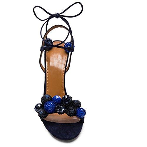 Peep Brillante Flores Plataforma Moda Alto Tobillo Vendas Noche 10 Bomba Mujeres La De De Tacón Sandalias Toe Zapatos Las De De De Corte De La Cristal Cm 6qOYpw78