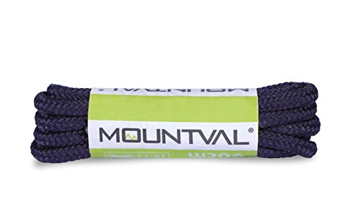 Mountval Laces, performance shoe laces for hiking and outdoor boots, ultra strong, made in Europe, 1 pair (150 cm - 60 inch - 7 to 8 eylet pairs / 57 - dark blue)