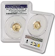 2021 (W) 1/10 oz Gold American Eagle Gem Uncirculated (Type 2 - First Day of Issue - Struck at The West Point