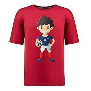 Custom Mens Cotton Short Sleeve Round Neck T-shirt,2014 Brazil FIFA World Cup UP72 red