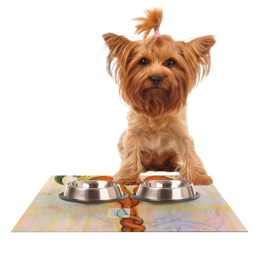 Kess InHouse Matthew Reid Never to Forget  Feeding Mat for Pet Bowl, 24 by 15-Inch