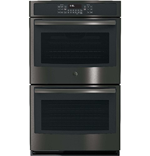 "GE 29.8"" Built-In Double Electric Convection Wall Oven Black stainless steel JT5500BLTS"