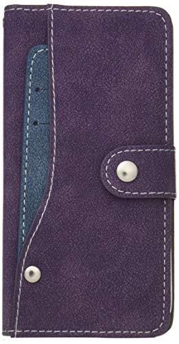 腐った救援クリスマスPLATA AQUOS R SH-03J / SHV39 / 605SH ケース 手帳型 スライド カード ポケット ソフト レザー カバー 【 パープル 紫 むらさき purple 】 DSH03J-97PP