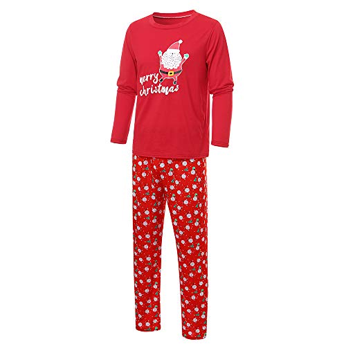- Forthery Family Matching Christmas Pajamas Holiday Plaid Flannel Santa Claus Pajamas PJs Sets(Red 2, Father-2XL)