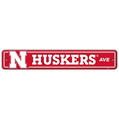 Flagpole To Go NCAA Nebraska Cornhuskers Street Sign - Ncaa Nebraska Cornhuskers Street Sign