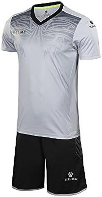 Kelme - Camiseta de portero de manga corta para hombre, color gris, tamaño small: Amazon.es: Deportes y aire libre