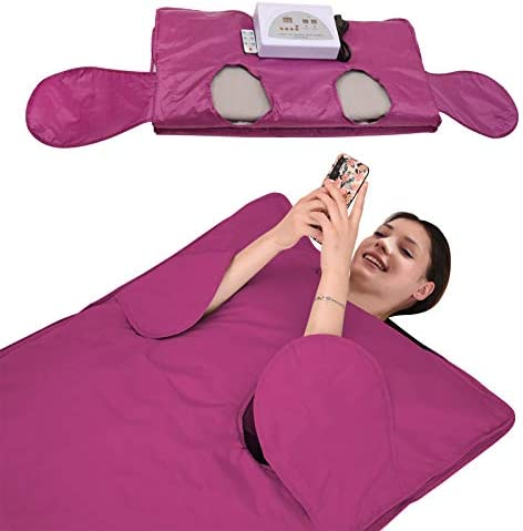 SEAAN Far Infrared Sauna Blanket 2 Zone Weight Loss Detox Therapy FIR Sauna Blanket