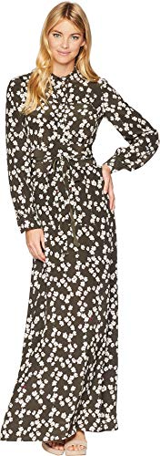 Juicy Couture Black Label Womens Abbey Silk Floral Print Maxi Dress Gray 8 -