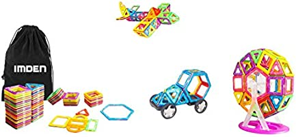 IMDEN Magnetic Blocks, Magnetic Building Set, Magnetic Tiles, Educational Toys for Baby/Kids, 92 Piece