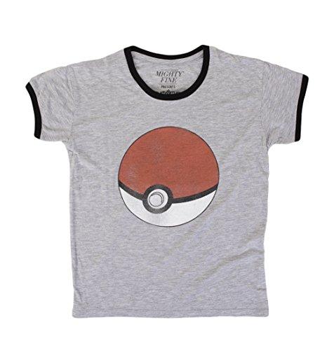 Pokemon Classic Pokeball Juniors Heather T-Shirt | S