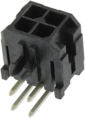 2 Rows, Through Hole 3 mm Header Micro-Fit 3.0 43045 Series 4 Contacts 43045-0402 Pack of 20 Wire-To-Board Connector