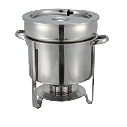 Winco 211 Stainless Steel Soup Warmer, 11-Quart, Set of 3