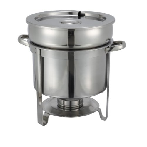 Winco 211 Stainless Steel Soup Warmer, 11-Quart, Set of 3 by Winco US