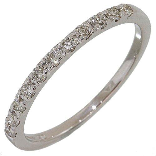 (ヨンドシー)4℃ ハーフダイヤ デザイン リング 11号 K10WG 中古 B07BHC68GM