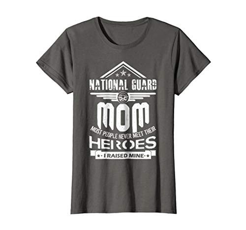 Womens National Guard Mom I Raise Mine Shirts XL Asphalt