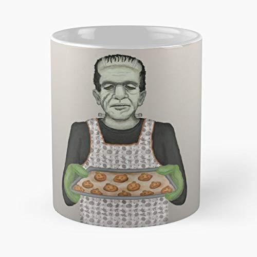 Frankenstein Halloween Pumpkin Cookies Holiday Baking - Handmade Funny 11oz Mug Best Holidays Gifts For Men Women Friends.]()