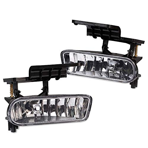 2 pcs Fog Light Lamp Left Right For 1999-2002 Chevy Silverado 1500/2500 2000-2006 Chevy SUBURBAN Tahoe Replacement Driver Passenger Side Fog Light