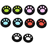 10pcs mix color Cat Paw Controller Joystick Thumbstick Grips Silicone Caps For PS4 Xbox One