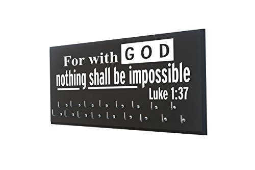 (Running On The Wall-Gifts Athletes-Medal Display Rack-Medal Holder Athletes GOD Nothing Shall BE Impossible -Luke 1:37