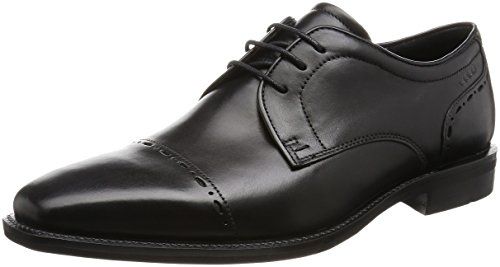 ECCO Men's Faro Cap Toe Oxford,Black,44 EU/10-10.5 M (Ecco Cap Toe Cap)