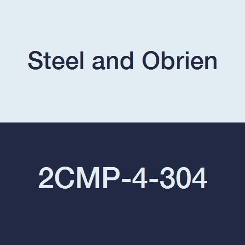 Steel and Obrien 2CMP-4-304 Stainless Steel Clamp, 90 degree Elbow, 4