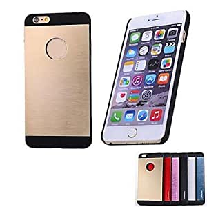 Wire Drawing Metal Case for iPhone 6 ,Color:Silver Protective Smartphone Shell