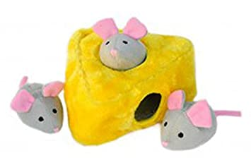 ZippyPaws Interactivo Puzzle Zippy bostezando ratón y Queso Perro Juguete, 7 pulgadas/18 cm: Amazon.es: Productos para mascotas