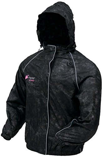 Frogg Toggs Women's Sweet ''T'' Rain Jacket (Black, Small)